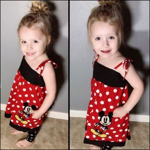 Adorable, handmade, Minnie Mouse sundress!!